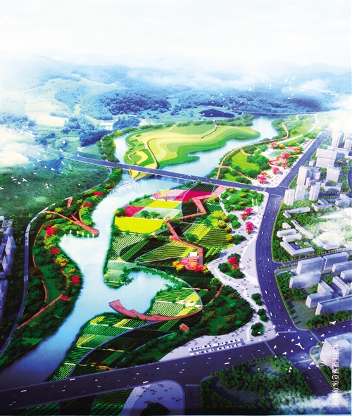 水塘江综合治理PPP项目规划效果图  本报记者 赖有光 翻拍