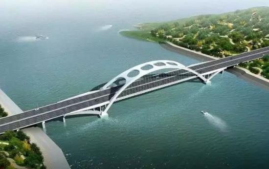 (江北快速路新河桥效果图)