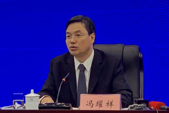 中国贸促会贸易投资促进部部长冯耀祥 沙丽/摄