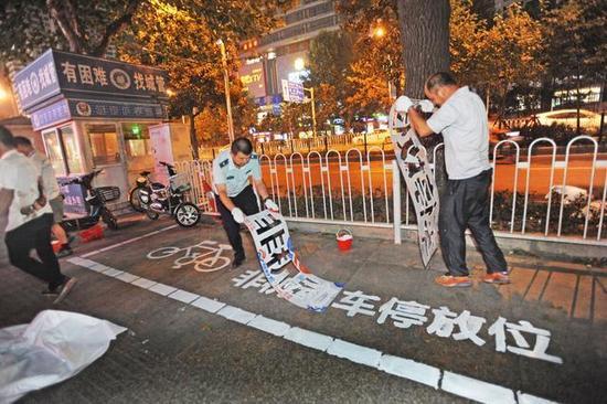 武昌规划共享单车泊位 不停在规定区域将无法上锁