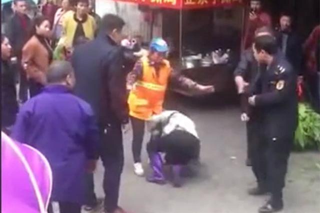 """永州通报""""城管殴打女商贩"""":两粗暴执法者待岗一年"""