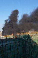 北京北二环火情 现场浓烟滚滚