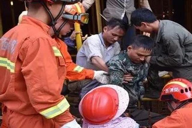 防城港一男子被钢筋扎进大腿!工地安全常识请你收好