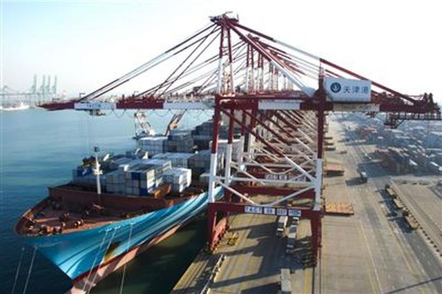 """""""天津港""""连续生产 今年1月货物吞吐量同比增长8.4%"""