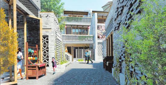 三街两巷二期明年春节前开街 新会书院水塔脚展新貌