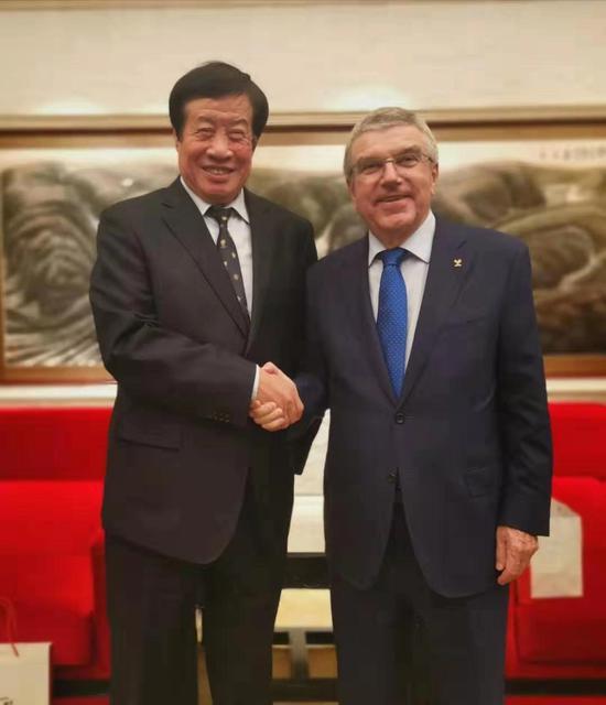 国际奥委会主席巴赫接见中奥集团董事长吴振绵先生