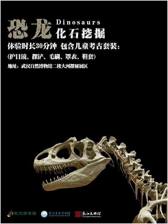 """▲ 武汉自然博物馆体验""""恐龙化石挖掘"""""""
