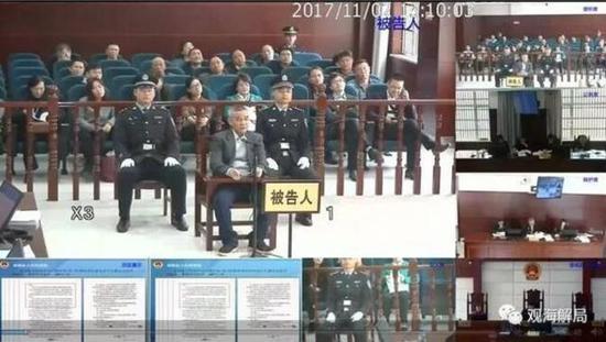 图为:胡祖斌受审