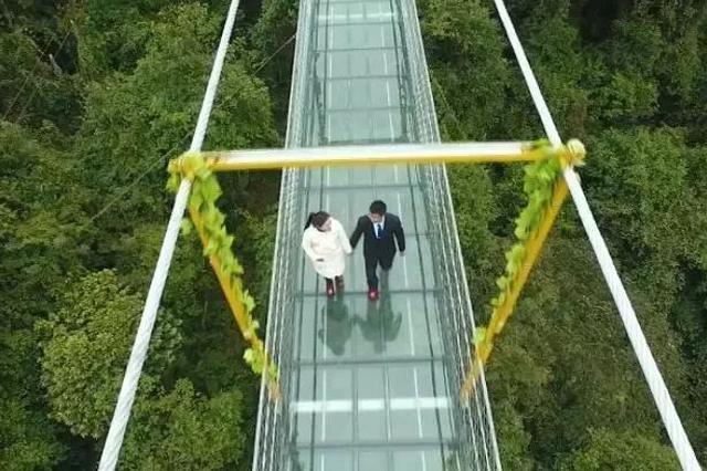 过年去哪玩?广西融水有座玻璃桥 去双龙沟嗨一把
