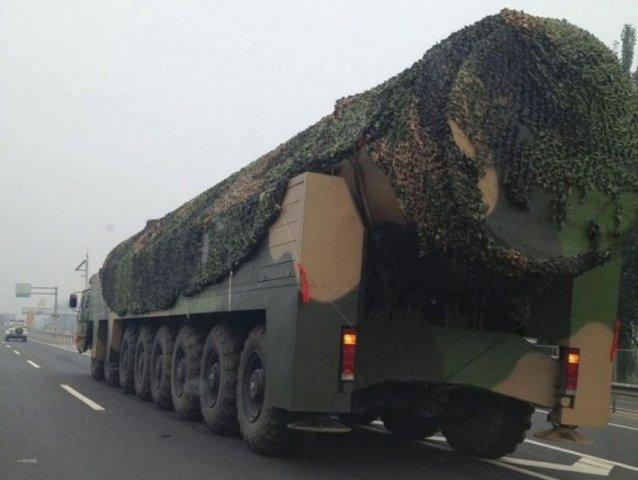 外媒称中国东风41洲际导弹今年将服役率先部署河南
