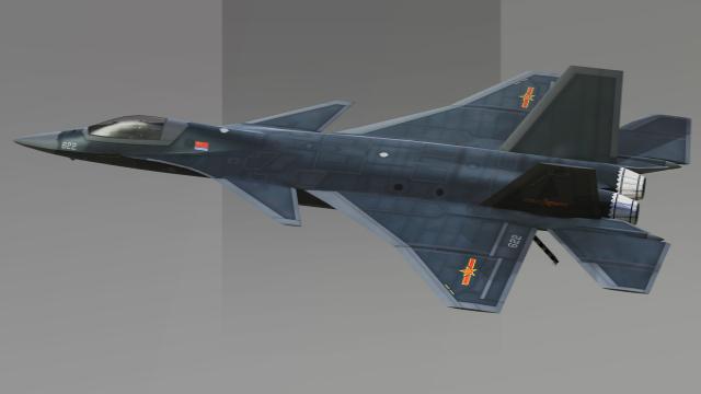 完爆美制F-35C!网友构想中国未来歼20隐身舰载战斗机