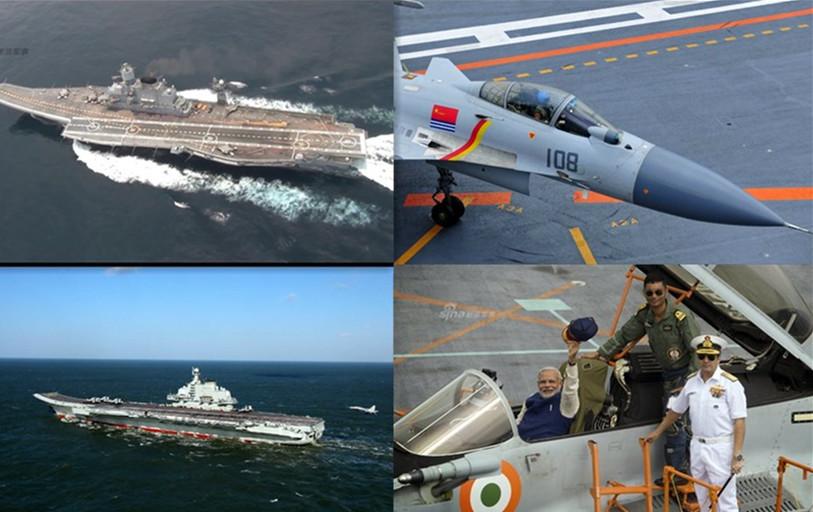 气场差太多!中国与印度现役主力航母战力对比