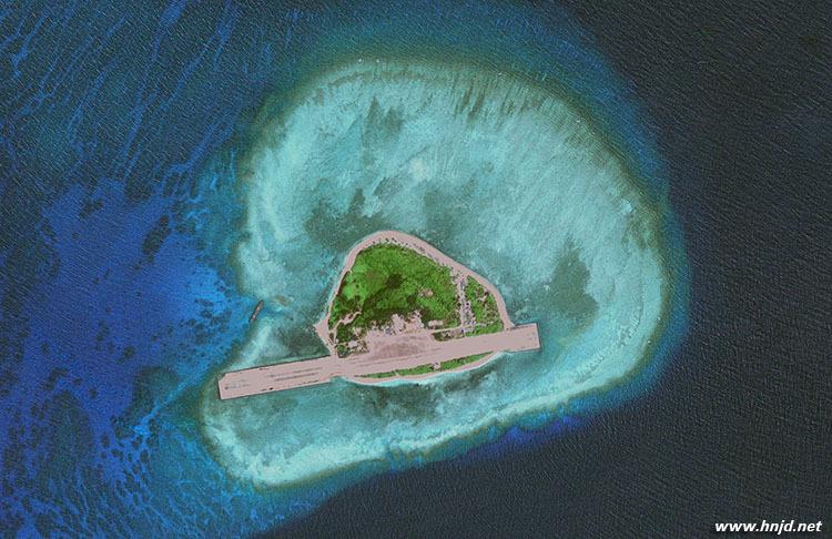 导弹瞄准中国南海岛礁 中国似乎正在迅速推进人工岛屿基地的建设进度