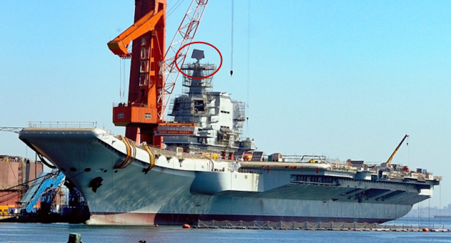 一天一个进度!002型国产航母顶板雷达安装完毕