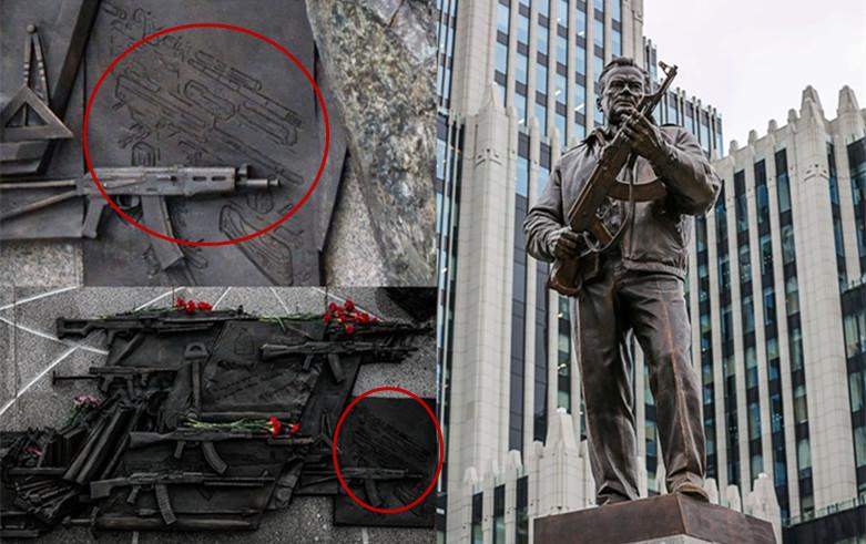 这大乌龙!卡拉什尼科夫雕像上出现了德国突击步枪