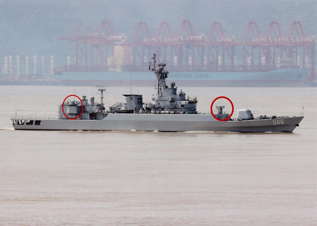 换新颜了!中国老式护卫舰加装海红旗-10和近防炮