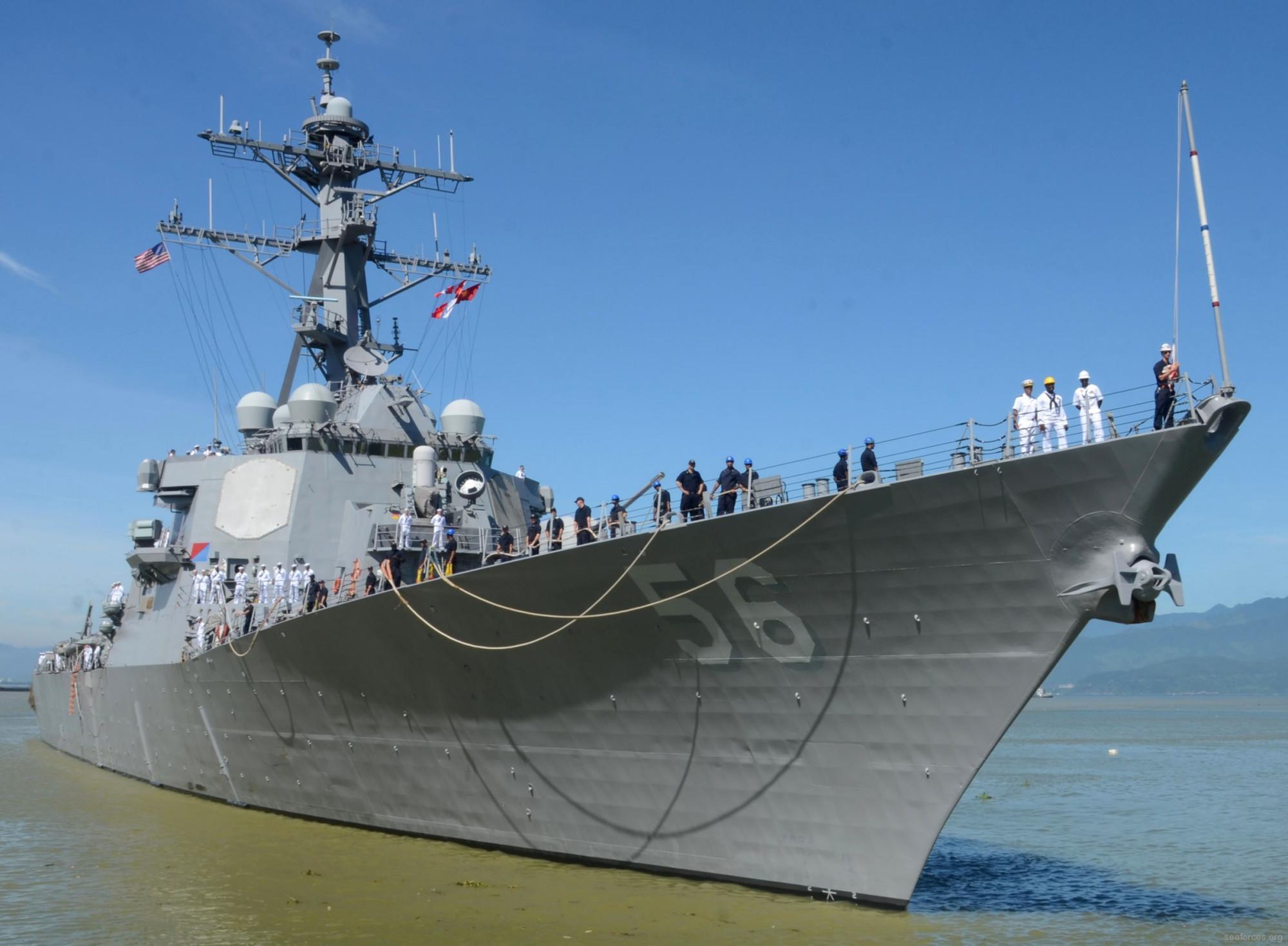 """美军导弹驱逐舰""""约翰·麦凯恩""""号7日穿航台湾海峡"""