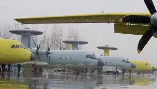 空警500预警机加速交付 5架新机下线排列整齐(图)