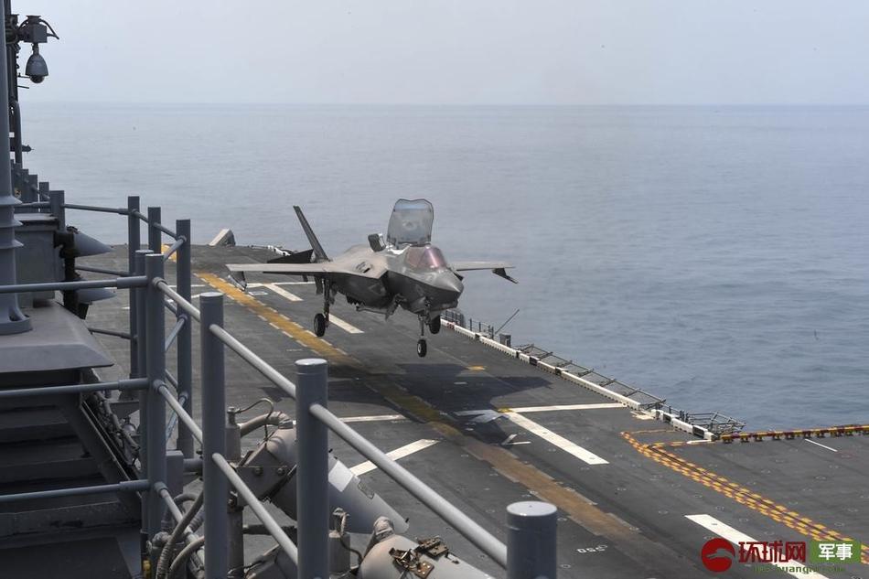 耀武扬威!美军准航母与盟友南海军演 F35频繁起降