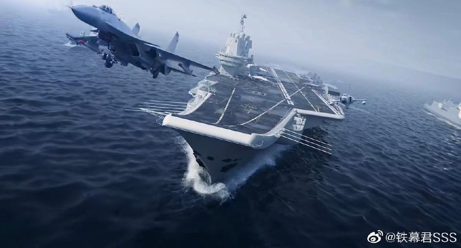 细节真漂亮!CG图展望中国海军国产航母山东舰编队