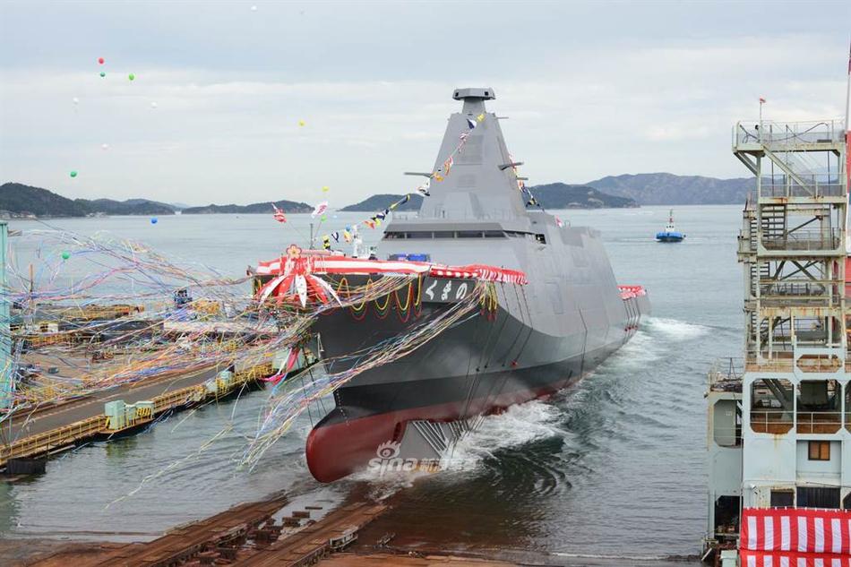 造价堪比052D!日本海自最新型30FFM隐身护卫舰下水