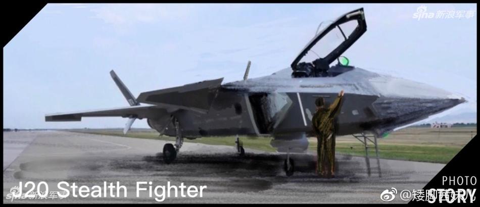 建军节阅兵吸引人注意力最多的是歼-20最新一代隐形战斗机,网友手绘