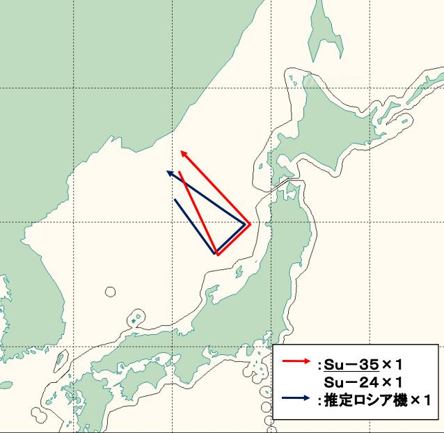 骚扰?日本首次抓拍俄军苏35巡航日本海