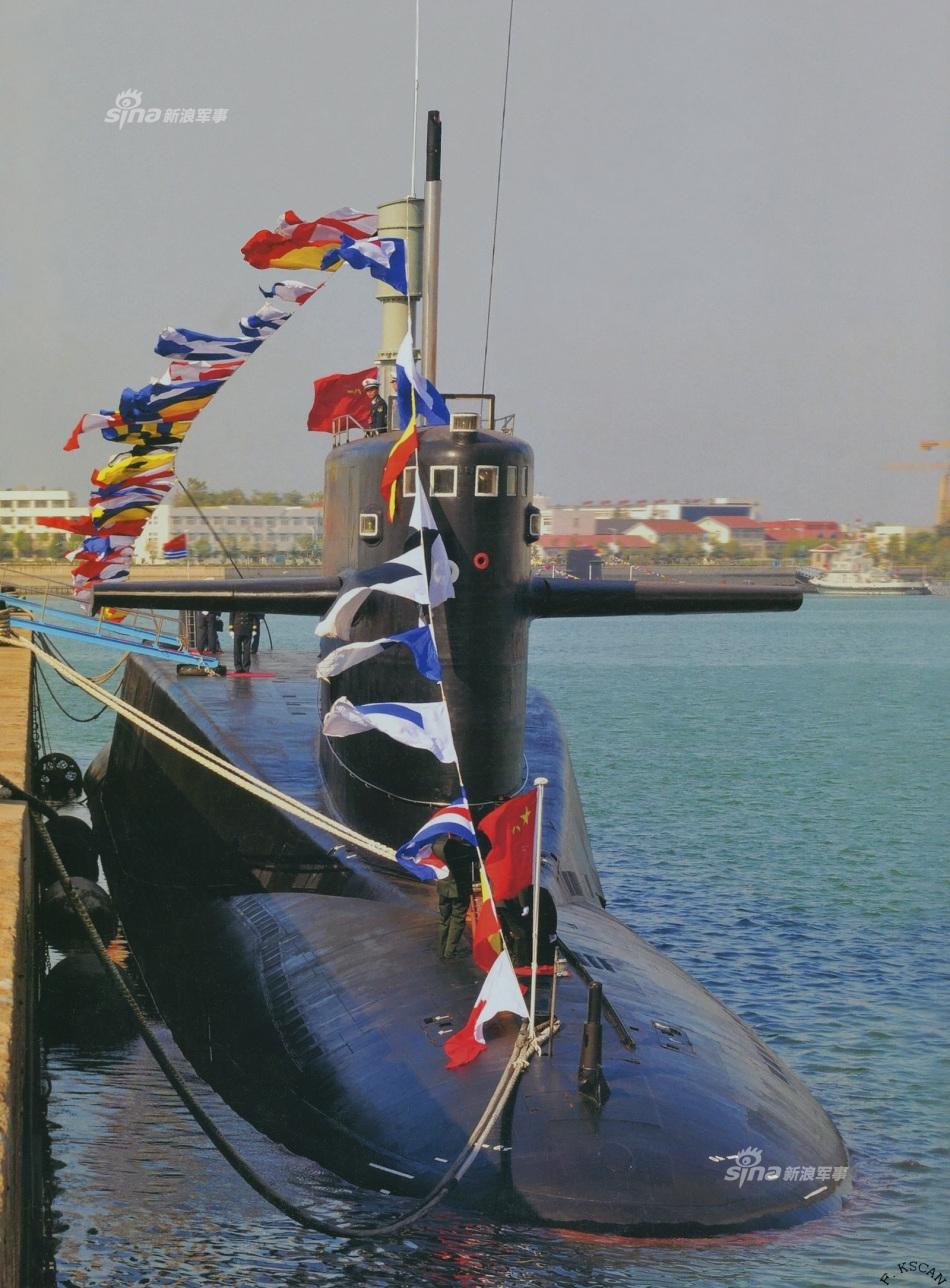 20年唯一核反击 092战略核潜艇导弹齐射CG想象图