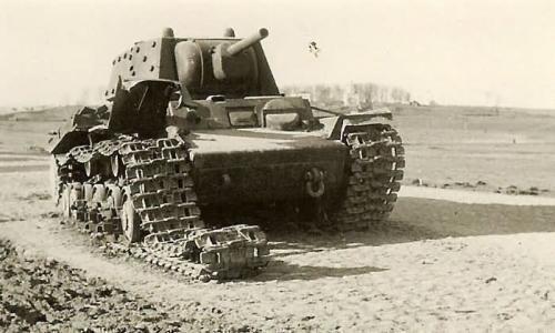被击毁的苏军坦克