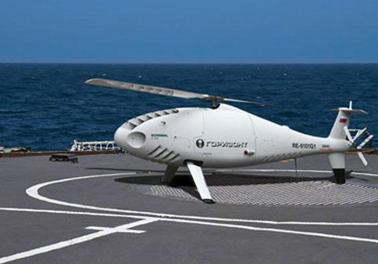 图片:俄罗斯仿制的Air S-100型无人直升机。