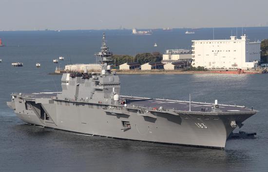 """""""出云""""级首舰""""出云""""号目前是日本海上自卫队的旗舰"""