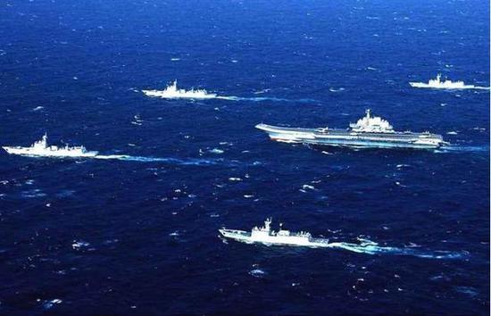 中国航母战斗群编成磨练日益成熟