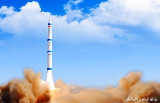 """航天科技,其中报道了某弹道导弹工厂正在生产""""快舟11号""""固体运载火箭图片"""