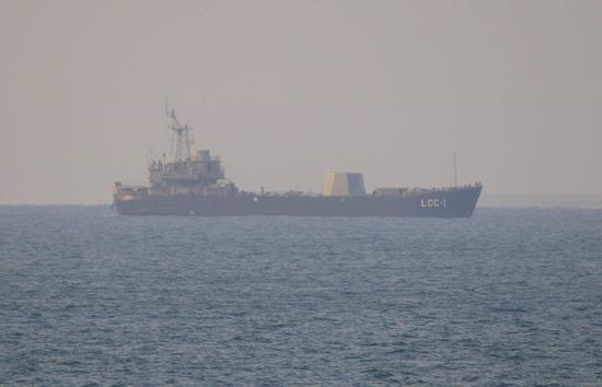 台湾神盾验证舰海试 堪称二战防空能力最强登陆舰