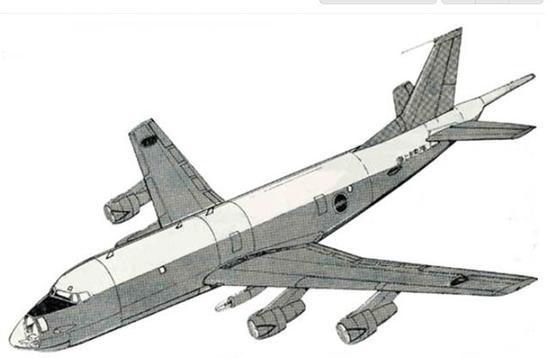 图为上个世纪六七十年代日本川崎的PX-L反潜机计划。该机最后被P-3C打败。