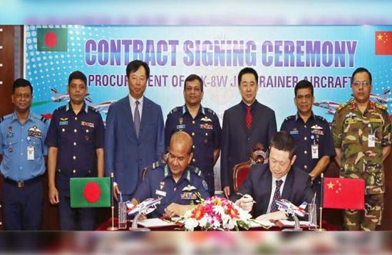外媒:中国军机出口再获订单 孟加拉空军追加订购K8