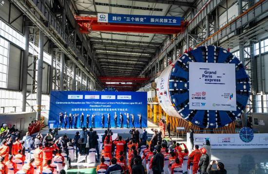 中国盾构机首次反向出口法国 进入全球顶级高端市场