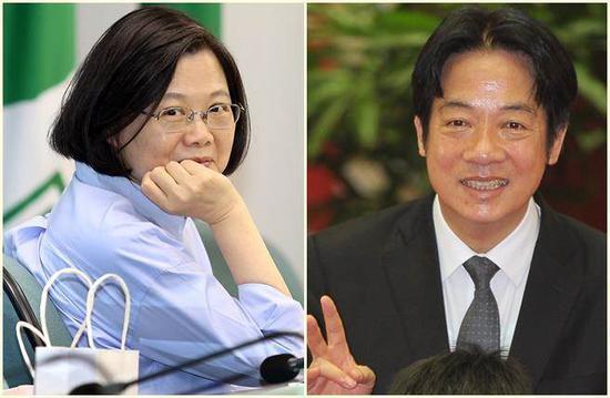 蔡英文(左)、顶赖清道德。(图片到来源:台湾《中时电儿子报》)