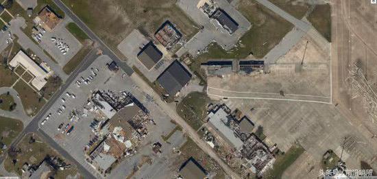 被飓风眷顾的廷?#38706;?#31354;军基地卫星照片
