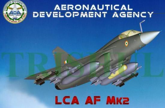 """图为""""光辉""""(LCA)MK2型战机的3D模型图。"""