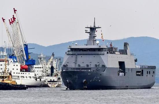 菲律宾海军的大型登陆舰(资料图)。