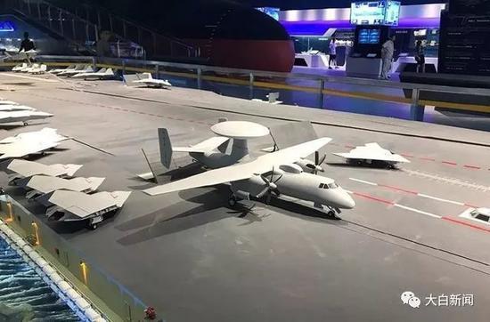 空警-600舰载预警机模型(图源于网络)
