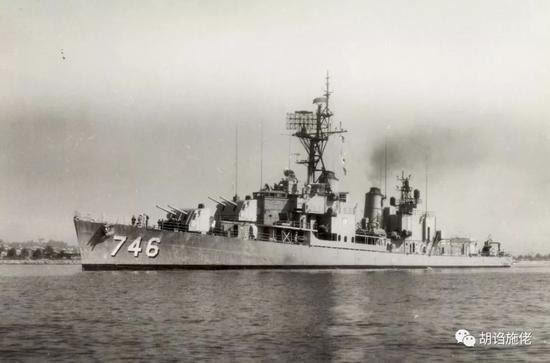"""▲ """"洛阳""""还在美国海军服役时期,可见已经完成了FRAM II的改装"""