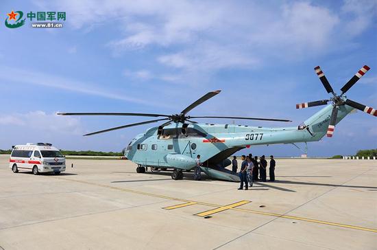 解放军出动直升机赴西沙海域抢救重病渔民(图)单于夜遁逃下句