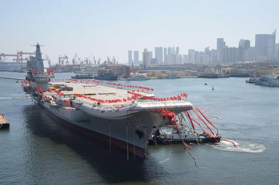 俄媒称中国国产航母性能超辽宁舰50% 十年内将造4艘张绍刚被打