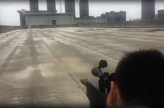 ZKZM-500激光步枪测试视频截图