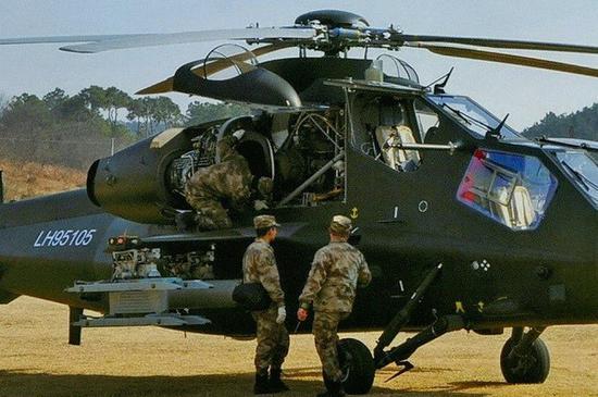 早期直-10武装直升机没有安装这个装甲