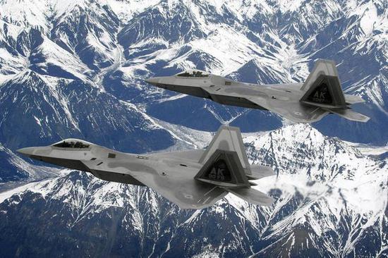 ▲隶属于埃尔门多夫理查森联合基地的F-22战斗机