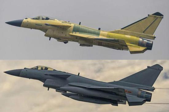 看看歼-10C与下边的歼-10B有何不同