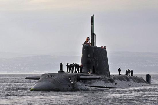 """▲英国皇家海军""""机敏""""级核潜艇"""